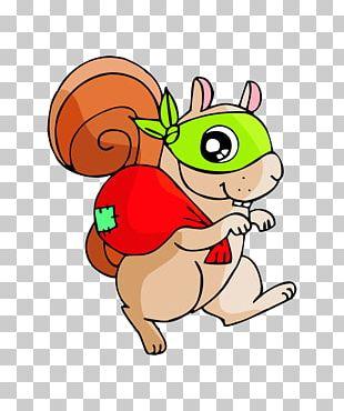 Squirrel Cartoon Illustration PNG