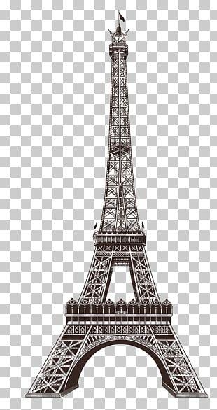 Eiffel Tower Champ De Mars Exposition Universelle Paper PNG