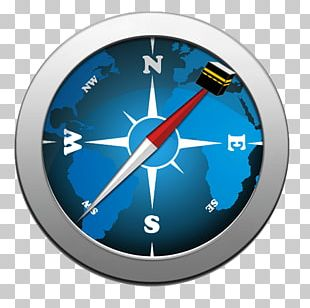 Clock Electric Blue PNG