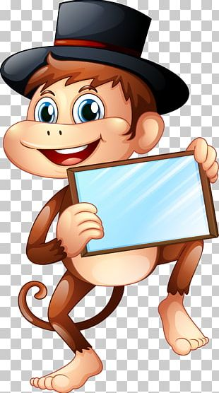 New Year Monkey January Party Christmas PNG