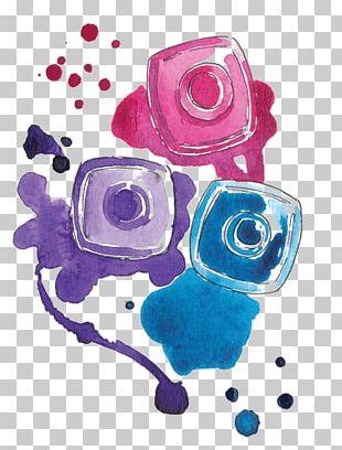 Chanel Nail Polish Cosmetics Watercolor Painting PNG