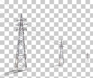 Utility Pole Column High Voltage Computer File PNG