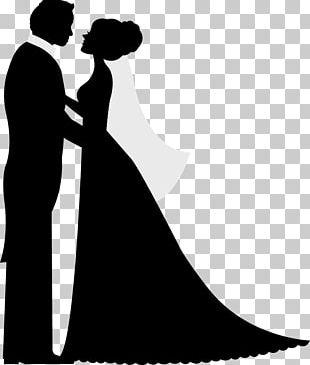 Silhouette Wedding Invitation Bridegroom PNG
