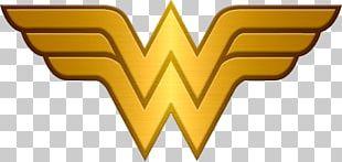 Wonder Woman Logo Female Iron-on Superhero PNG