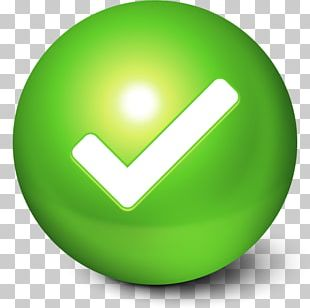 Symbol Sphere Green PNG