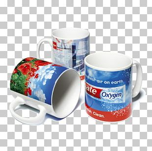 Mug Printing Bone China Dye-sublimation Printer Promotional Merchandise PNG