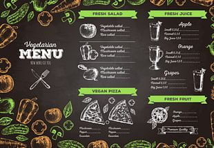 Vegetarian Cuisine Menu Cafe Drawing Food PNG