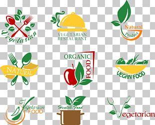 Organic Food Vegetarian Cuisine Logo PNG