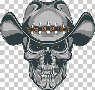 Old School (tattoo) Skull Cowboy PNG