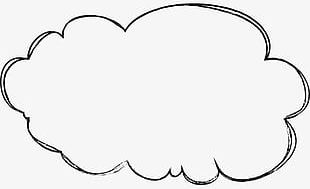 Hand-painted Cartoon Clouds PNG