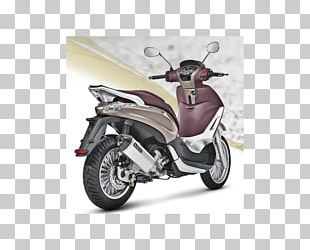 Piaggio Exhaust System Scooter Akrapovič Motorcycle PNG