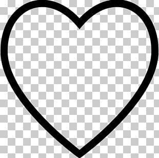 Coloring Book Heart Symbol PNG