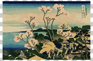 Thirty-six Views Of Mount Fuji The Great Wave Off Kanagawa Fine Wind PNG