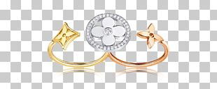 Louis Vuitton Jewellery Diamond Gold Ring PNG