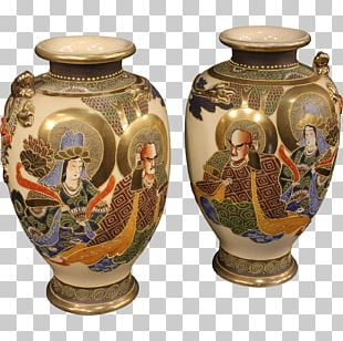 Vase Ceramica Giapponese Pottery Satsuma Ware PNG