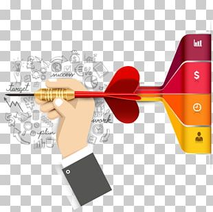 Infographic Target Market Business Diagram PNG