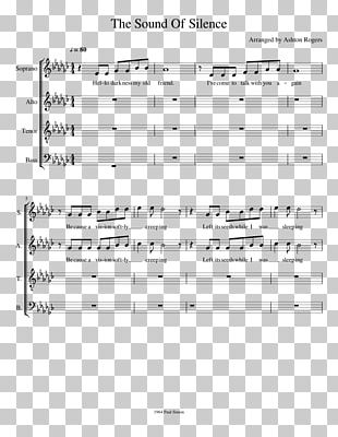 Sheet Music The Sound Of Silence Choir SATB PNG