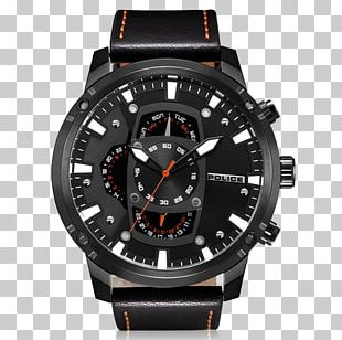 Watch Quartz Clock Leather Dial PNG