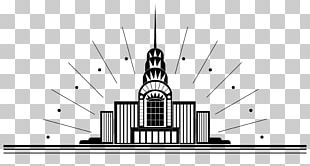 Art Deco City Illustration PNG