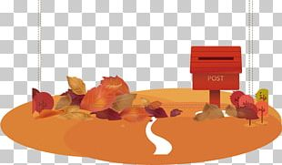 Autumn Hand-painted Decorative Button Material PNG