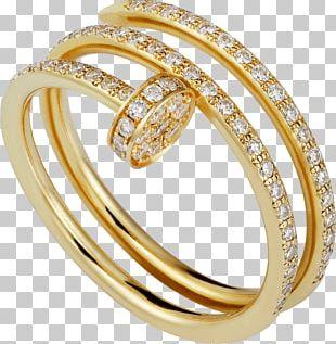 Cartier Diamond Jewellery Wedding Ring Gold PNG