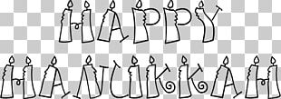 Happy Hanukkah Candles Sign PNG