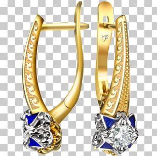 Earring Gold Jewellery Diamond Brilliant PNG