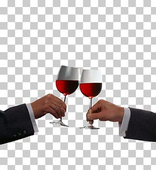 Red Wine Champagne Toast PNG