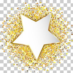 Hand Painted Gold Stars PNG