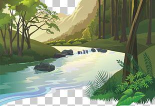 Natural Landscape Cartoon Nature PNG