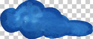 Blue Watercolor Painting Drawing PNG