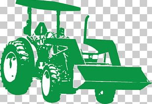 Green Tractor Farm Safety Motor Vehicle PNG