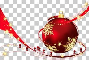 Red Transparent Christmas Ball PNG