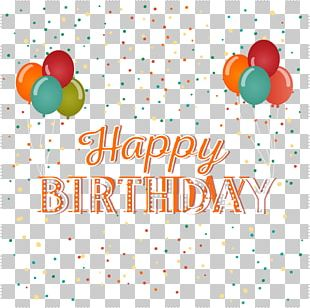 Birthday Cake Balloon Greeting Card PNG