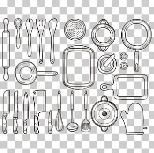 Kitchen Utensil Drawing Tool PNG