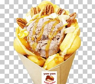 Ice Cream Egg Waffle Sundae Flavor PNG