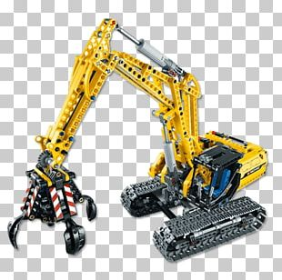 Lego Technic Construction Set Lego Minifigure Excavator PNG