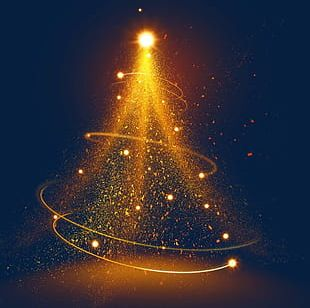 Fantasy Magic Golden Light Effect PNG