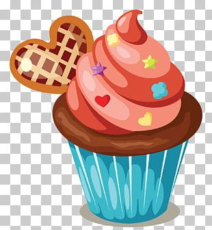Cupcake Icing Birthday Cake Muffin PNG