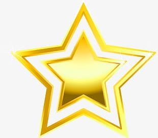 Gold Star Decoration Pattern PNG