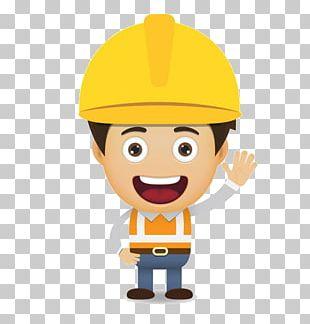 Cartoon Laborer Construction Worker Euclidean PNG