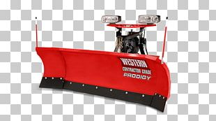 Snowplow Badger Truck Equipment Plough Snow Removal Western Products PNG
