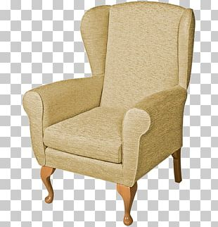 Club Chair Wing Chair Couch Slipcover PNG