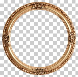 Frames Gold Leaf Mirror Circle PNG