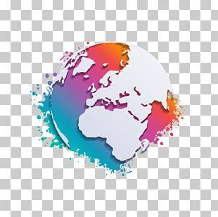 Earth Globe World Map PNG