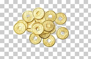Gold Coin Feng Shui Gold Coin Money PNG