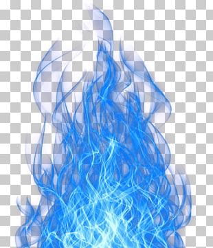 Flame Blue Fire Light PNG