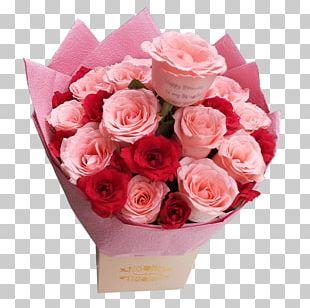 Flower Bouquet Pink Garden Roses Cut Flowers PNG