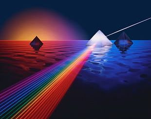 Reflecting The Prism On The Sea PNG