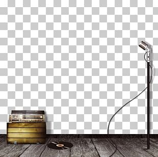 Microphone Wall Floor Web Banner PNG